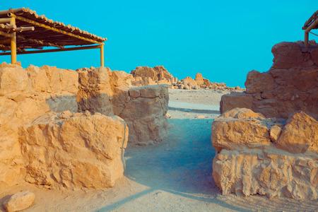 The ruins of the palace of King Herods Masada. Israel.