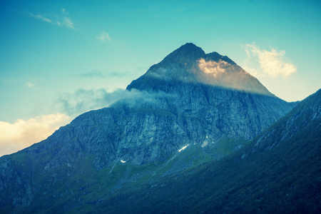 Beautiful mountains against the sky.  Nature Norway