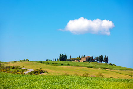 Beautiful nature of Italy. Tuscany landscape in spring