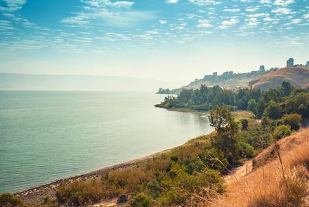 Skyline, view of Tiberias in Galilee, The Sea of Galilee, Lake of Gennesaret, Israel