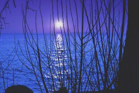 Lake Balaton at night, Hungary, Europe