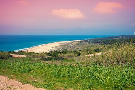 Atlantic Ocean. Beach in Nazaré, Portugal, Europe Zdjęcie Seryjne