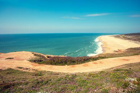 Atlantic ocean, beach in Nazare, Portugal, Europe Zdjęcie Seryjne