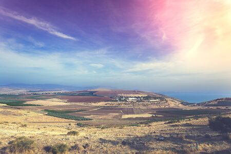 View from the hill on the Sea of Galilee, Tiberias, Israel Standard-Bild