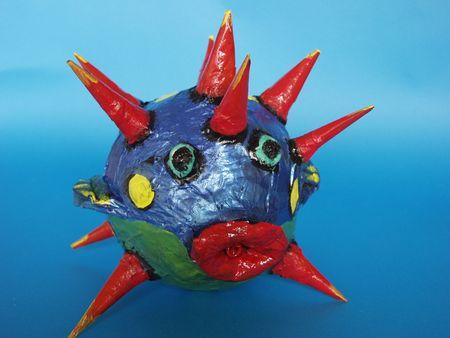 papiermache: close up of fish made of papier-mache