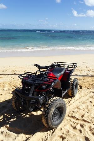 vague: quad on the beach