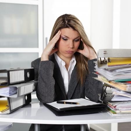 secretaria: cansado