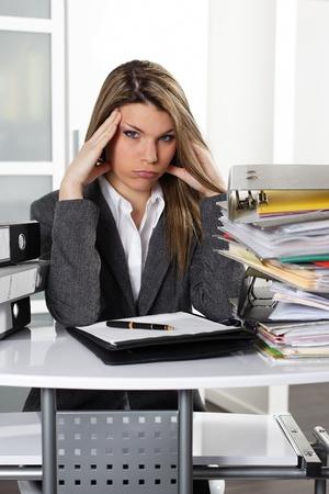 overwhelmed: sigh Stock Photo