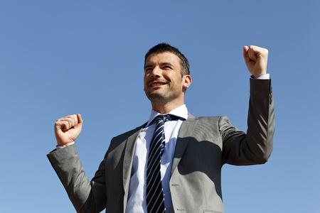 horizontal winner businessman photo