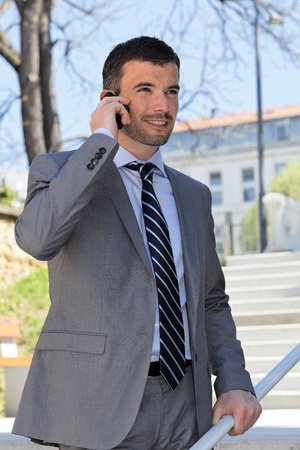 businessman on the phone photo