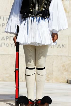 gardian: gardian of parliament in athens in greece Stock Photo