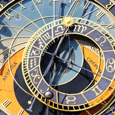 zodiacal: part of zodiacal clock in Prague city