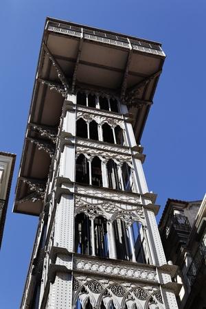 elevador: Santa Justa Elevator in Lisbon in october, Portugal Editorial