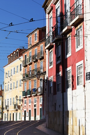 beautiful street in Lisbon in summer, Portugal Stock Photo - 10958119