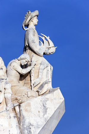 henry: part of the Padrao dos Descobrimentos, monument in Lisbon Editorial