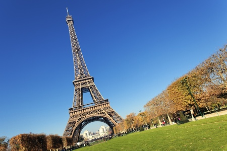 urban scenics: Eiffel tower in Paris with gorgeous colors