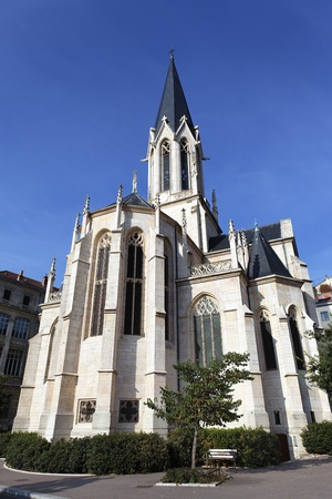 patrimony: Famous church in Lyon city in France