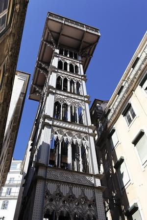 elevador: famous Santa Justa Elevator in Lisbon, Portugal Stock Photo