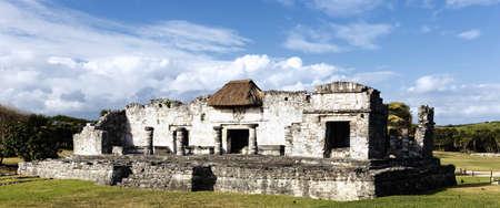 vue panoramique sur les ruines de fresques, tulum Banque d'images - 12631386