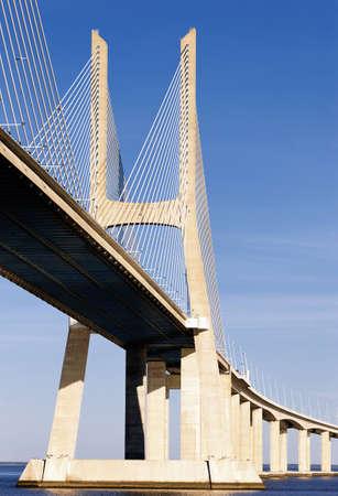 part of Vasco da Gama bridge in Lisbon, Portugal Stock Photo - 12621182