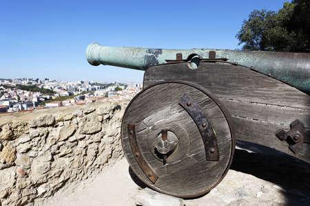 cannon of Saint George Castle in Lisbon