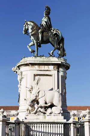 famous statue on commerce square in Lisbon, Portugal Stock Photo - 12631469