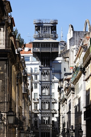 the famous Santa Justa Elevator in Lisbon, Portugal  Stock Photo - 12617002