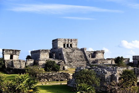 tulum: The famous archaeological ruins of Tulum in Mexico