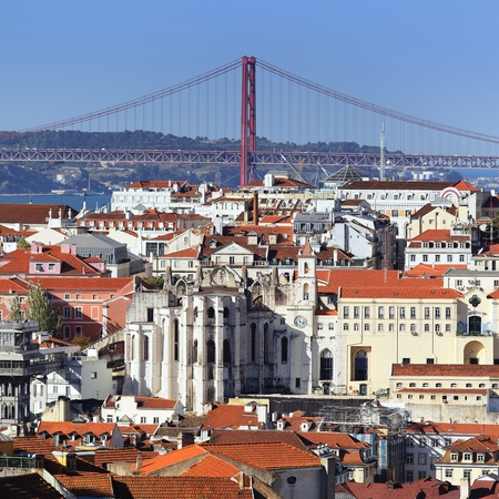 lisboa: view of Lisbon and the river Tagus, Portugal