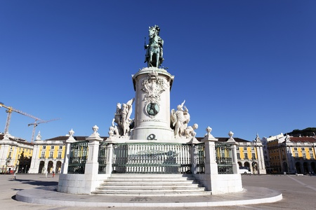 famous statue on commerce square in Lisbon Stock Photo - 13143916