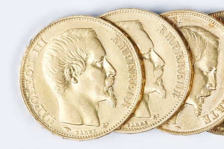 napoleon: some french gold coins with Napoleon