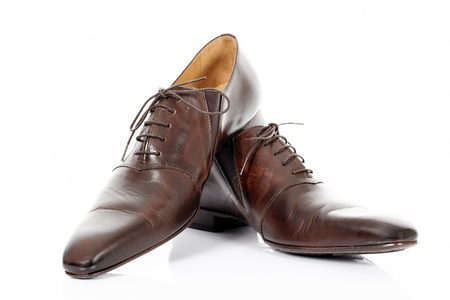 Brown shoes isolated on the white background  Stock Photo - 13595643