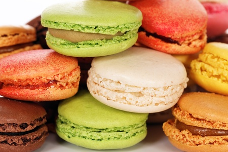 Macaroons isolated in white background Stock Photo - 13595882