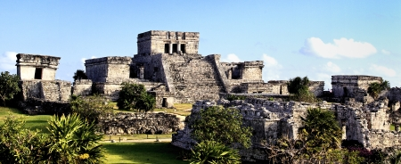 tulum: famous archaeological ruins of Tulum in Mexico