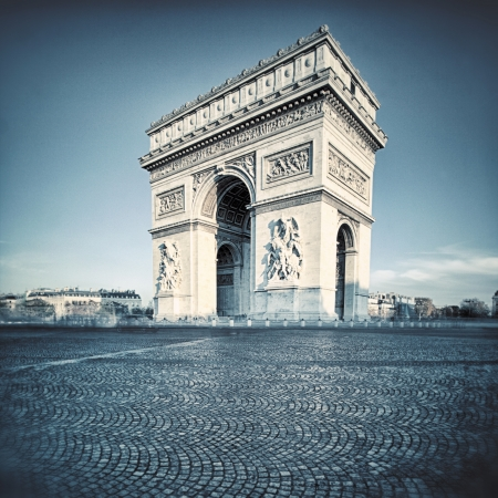 triumphe: view of the Arc de Triomphe with special photographic processing