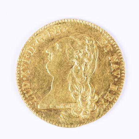 xvi: gold coin with Louis XVI, old french currency