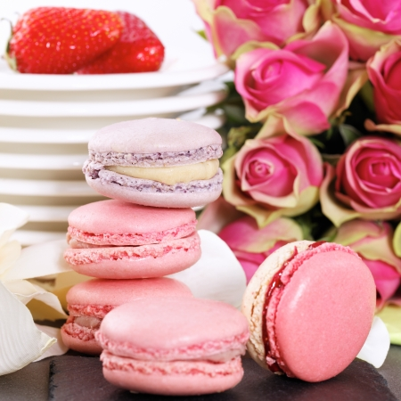 macaron: Dessert on valentine Stock Photo