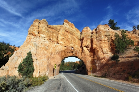Road to Bryce Canyon National Park through tunnel  photo