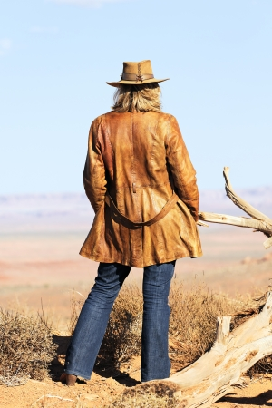 jane: cowgirl at Monument Valley, Utah, USA Stock Photo