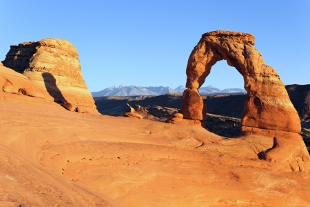erosion: Sunset at Delicate Arch, USA
