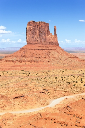 vertical view of Monument Valley West Thumb  Stock Photo - 16100572