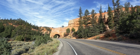 Road to Bryce Canyon National Park through tunnel in the rock, USA Stock Photo - 16438363