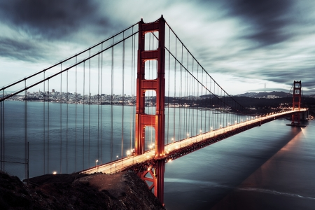 view of golden gate bridge Stock Photo