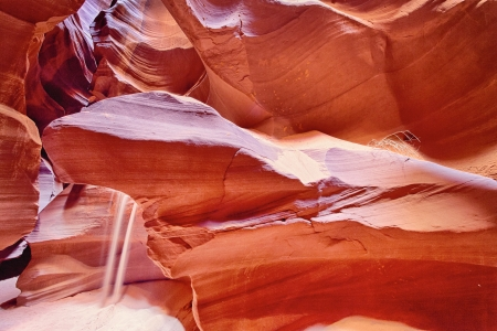 horizontal view of famous Antelope Canyon, Page, Arizona, USA  Stock Photo - 16655476