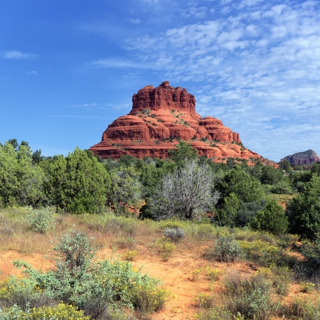 arizona sunset: view of the red rock of Sedona, Arizona  Stock Photo