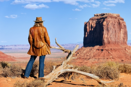 jane: lonely cowgirl at Monument Valley, Utah, USA