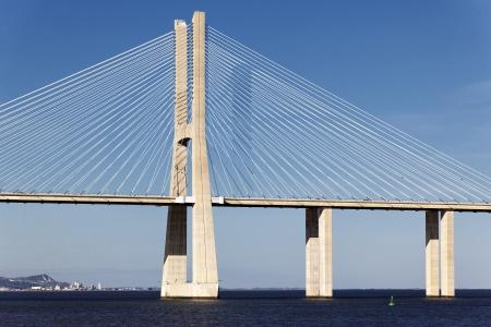 The big Vasco da Gama bridge in Lisbon, Portugal  Stock Photo - 16924231
