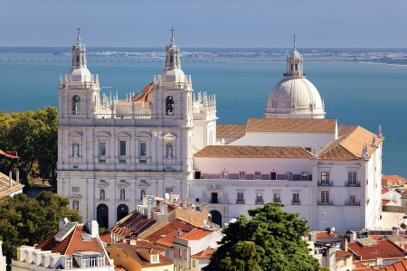 historica: the famous Church of St. Vicent in Lisbon