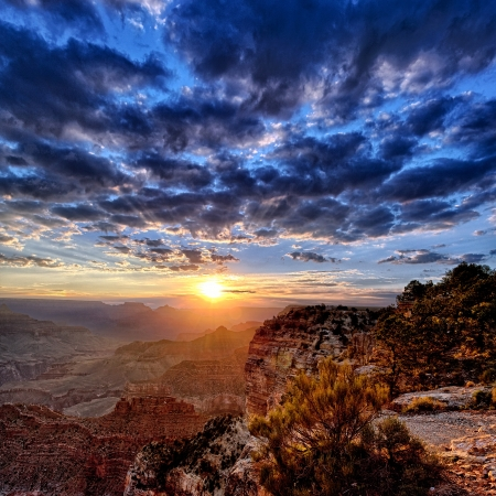 grand canyon: view of Grand Canyon at sunrise in september