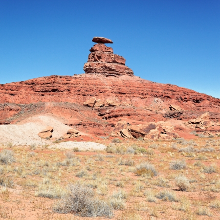 view of the mexican hat, USA photo